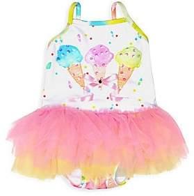 Kate Mack Baby Girl's& Little Girl's Ice Cream Tutu Swimsuit