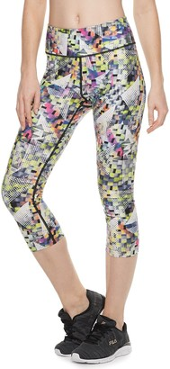 263fd0198ff1e ... Fila Sport Women's SPORT Printed High-Waisted Capri Leggings