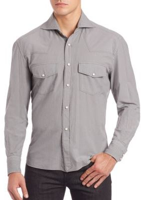 Eidos Double Pocket Long Sleeve Shirt $300 thestylecure.com