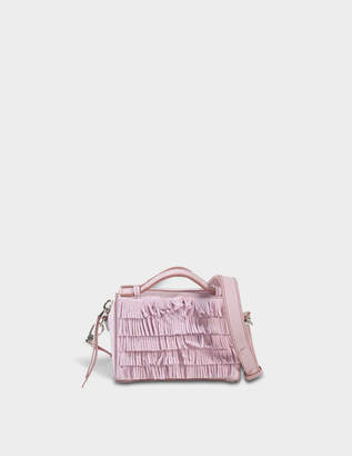 Tod's Don Gommino Micro Bag with Fringes in Keepsake Lilac Suede Calfskin
