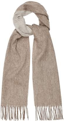 Reiss Our last order date for Christmas has now passed FINLEY LAMBSWOOL CASHMERE BLEND SCARF Ecru