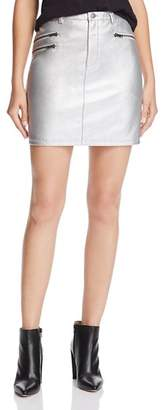 Rebecca Minkoff Myrah Metallic Faux-Leather Mini Skirt