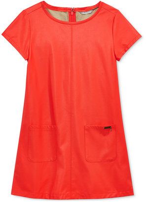 GUESS Faux-Leather Shift Dress, Big Girls (7-16) $49 thestylecure.com