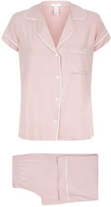 Eberjey Gisele Cropped Piped Pyjama Set