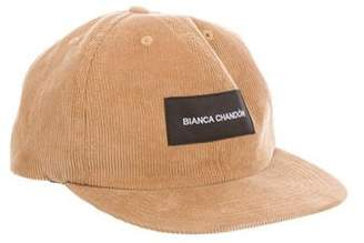 Bianca Chandon Leather-Trimmed Corduroy Hat