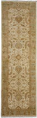 Solo Rugs Oushak Hand-Knotted Wool Runner