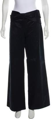 RED Valentino Mid-Rise Wide-Leg Pants