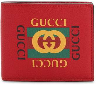 Gucci 1980's Printed Leather Wallet