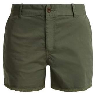 Nili Lotan Carpenter cotton-blend frayed shorts