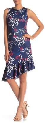Bebe Asymmetrical Ruffle Hem Dress
