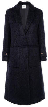 Agnona Mohair-blend Coat - Midnight blue
