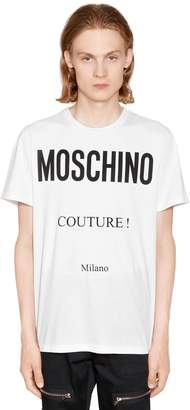 Moschino Couture! Printed Cotton Jersey T-Shirt