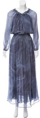 LoveShackFancy Silk Maxi Dress