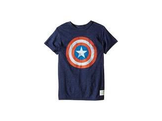 Original Retro Brand The Kids Captain America Tri-Blend Tee (Little Kids/Big Kids)