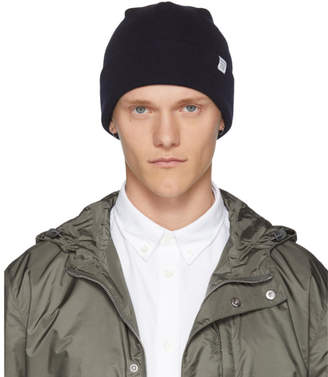 Norse Projects Navy Merino Wool Beanie