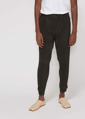 Issey Miyake Homme Plisse Pleats Trouser with Button Hem
