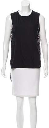 Torn By Ronny Kobo Lace-Paneled Sleeveless Top
