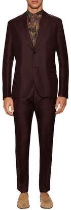 Valentino Men's Silk Solid Notch Lapel Suit