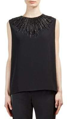 Lanvin Embellished Sleeveless Blouse