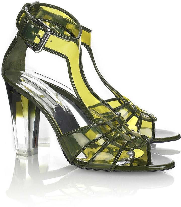 Stella McCartney Lucite heel sandals