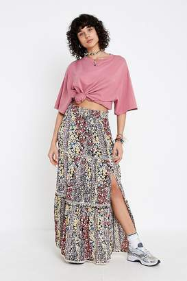 Urban Outfitters Tia Floral Lace Tiered Maxi Skirt