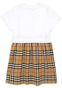 Burberry Little Girl's & Girl's Ruby Tartan & Solid T-Shirt Dress