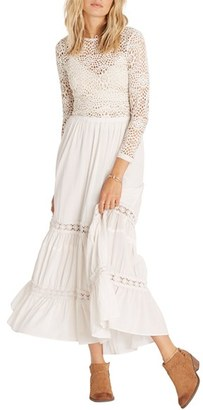 Billabong Til the Moment Tiered Maxi Skirt $69.95 thestylecure.com