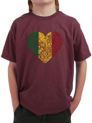 LOS ANGELES POP ART Los Angeles Pop Art One Love Heart Graphic T-Shirt Boys
