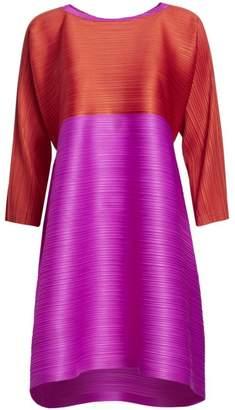Pleats Please Issey Miyake Merry Bounce Shift Dress