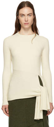 3.1 Phillip Lim White Waist-Tie Sweater