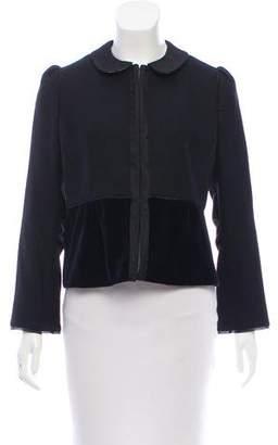 Peter Som Velvet-Trimmed Wool Jacket