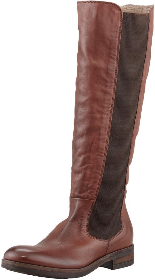 Alberto Fermani Lia Gored Leather Riding Boot, Cotto