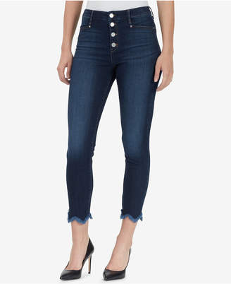 William Rast High-Rise Sculpted Button-Fly Skinny Jeans