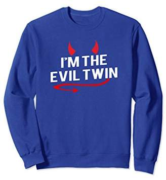 Evil Twin I'm the Funny Halloween Costume Sweatshirt