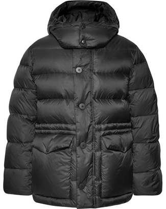 Privee SALLE Larse Quilted Shell Hooded Down Jacket