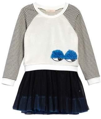 Truly Me Monster Mixed Media Sweatshirt & Tutu Dress Set