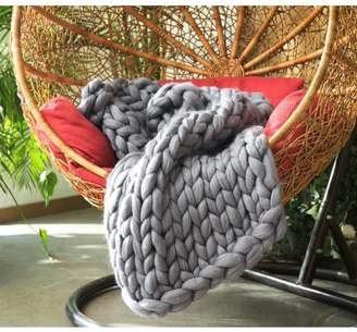 Byourbed BYB Pure Australian Woolen Blanket - Chunky Knit (Alloy)