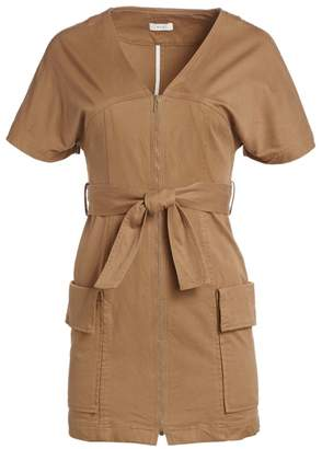 A.L.C. Bellamy Belted Stretch Cotton Dress