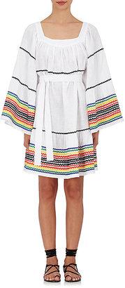 Lisa Marie Fernandez Women's Linen Cover-Up Peasant Dress $1,295 thestylecure.com