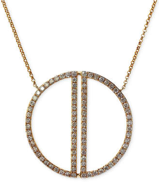 Effy Geo by Diamond Circle Pendant Necklace (1 ct. t.w.) in 14k Gold