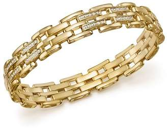 Bloomingdale's Diamond Brick Link Men's Bracelet in 14K Yellow Gold, 1.0 ct. t.w. - 100% Exclusive