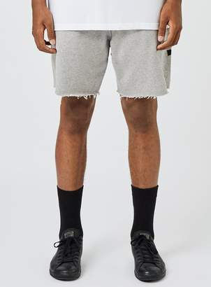Topman ROUX. Grey Marl Raw Edge Shorts*