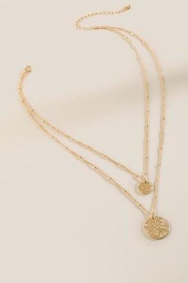 francesca's Hailey Layered Coin Necklace - Gold