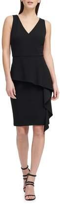 Donna Karan Ruffled Peplum Sheath Dress