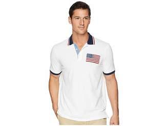 Polo Ralph Lauren American Flag Pique Polo Men's Clothing