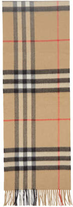 Burberry Beige Check The Classic Cashmere Scarf