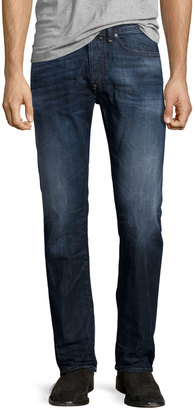 Diesel Buster L30 Faded Straight-Leg Jeans, Blue $140 thestylecure.com