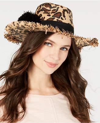 Betsey Johnson Leopard-Print Panama Hat