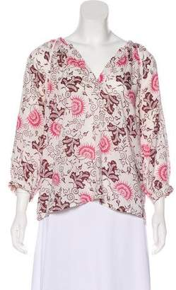Ulla Johnson Printed Long Sleeve Top