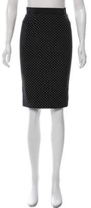 Dolce & Gabbana Silk Polka Dot Skirt